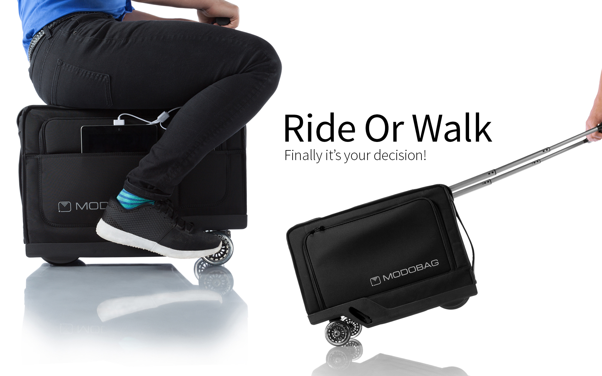 Image result for Modobag: World's First Motorized, Rideable Luggage!  Images